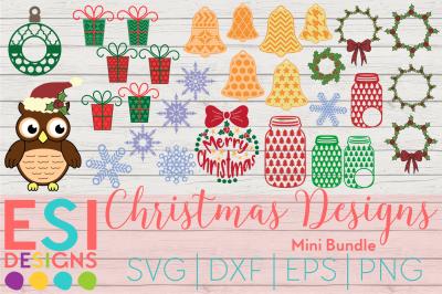 Christmas Designs Mini Bundle Part 1 | SVG, DXF, EPS & PNG