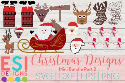 Christmas Designs Mini Bundle Part 2 | SVG, DXF, EPS & PNG