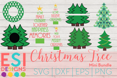 Christmas Tree Mini Bundle | SVG, DXF, EPS, PNG