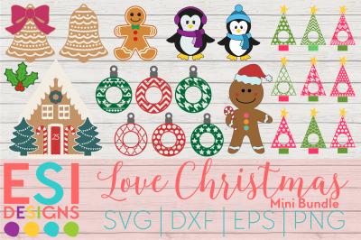 Love Christmas Mini Bundle | SVG, DXF, EPS, PNG