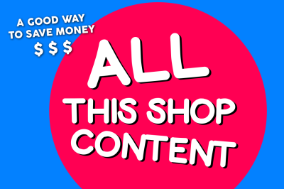 THE BIG SVG BUNDLE, All the Content of the Shop