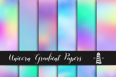 Unicorn Gradient Backgrounds