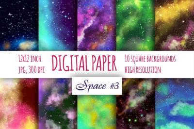 Space Fantastic digital paper. Galaxybright pattern pat.3