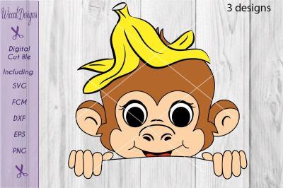 Monkey svg, peekaboo svg, boys shirt svg,  funny monkey svg