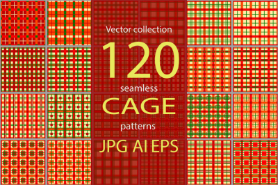 120 Seamless cage patterns