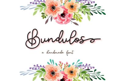 Bundulos - A calligraphy font