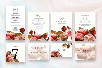 Rosette Invitation Suite As.7