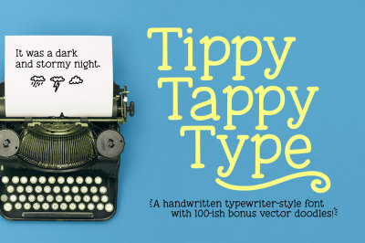 Tippy Tappy Type: a fun typewriter font!