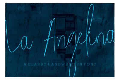 La Angelina Signature Font