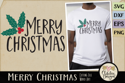 Merry Christmas SVG Word Art & Vector Cutting File