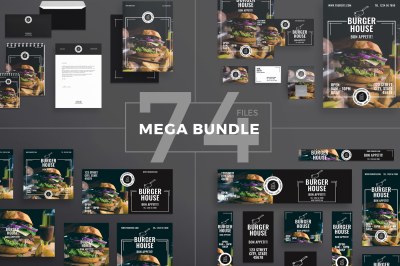 Design templates bundle | flyer, banner, branding | Burger House
