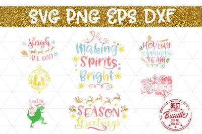 Christmas Bundle SVG File, Winter SVG, Kids SVG, EPS DXF PNG
