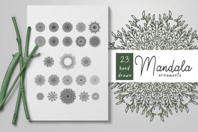SVG Bundle - Hand Drawn Mandala Ornaments