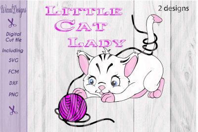 Cat svg, kitten svg, Little cat, Girl Cat svg, cute animal