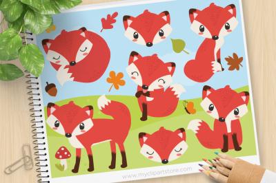 So Foxy, Forest Animals Vector SVG Clip Art