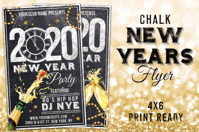 2020 Chalk New Years Eve Flyer