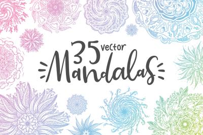 35 Vector Mandalas