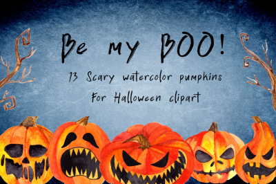 Be my BOO! Halloween clipart
