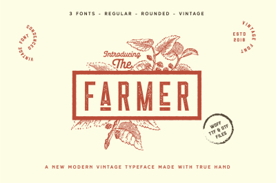The Farmer Font - Condensed Typeface