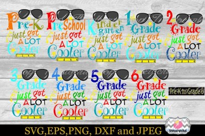 SVG, Dxf, Eps & Png Back to School All Grade Bundle