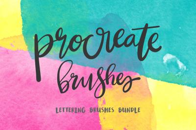 Procreate Lettering 34+ Brush Bundle