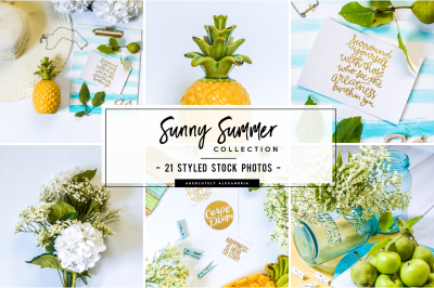 21 Sunny Summer Styled Stock Photos Bundle