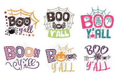 Boo y'all SVG Halloween in SVG/DXF/PNG/JPG/EPS