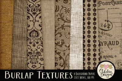 Burlap Texture Background Paper Pack