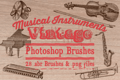 Musical Instrument Photoshop Brushes