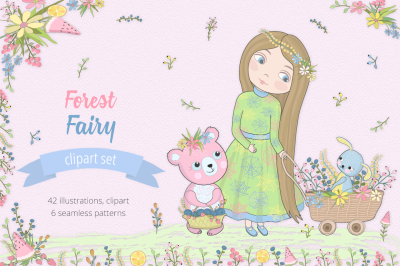 Forest Fairy  Illustration Set