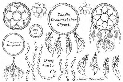 Doodle Dreamcatcher clipart