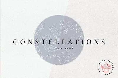 Constellations & Zodiac Illustrations