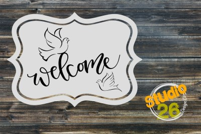 Welcome with Doves