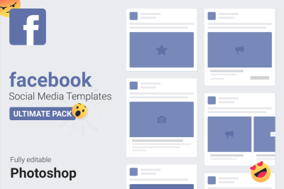Facebook PSD Templates 2018 — Social Media Mockups