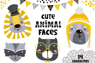 Cute animal faces creator