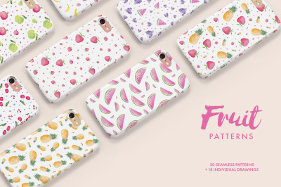 Watercolor Fruit Patterns