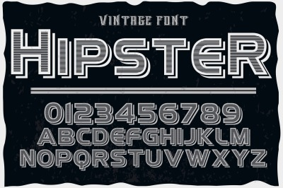 vintage alphabet Typeface handcrafted vector label design hipster