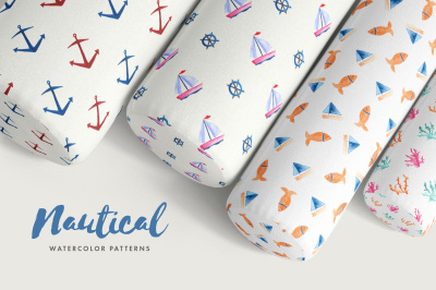 Nautical Watercolor Patterns