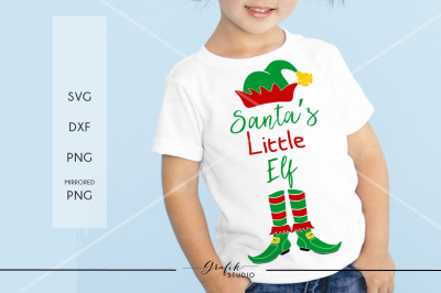 Santas Little Elf CHRISTMAS SVG File, DXF file, PNG file