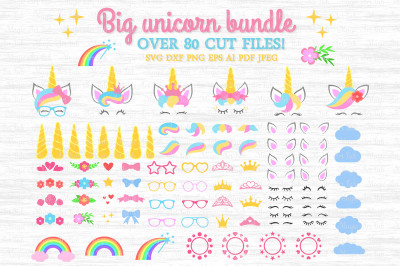 Unicorn SVG, Unicorn bundle SVG, Unicorn clipart, Unicorn party SVG