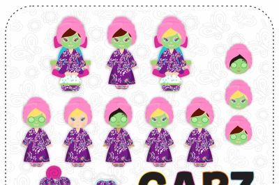 Spa Girls, Clipart and Digital Papers