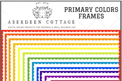 Primary Colors Border Frames Clip Art
