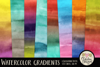 Watercolor Gradient Background Paper Pack