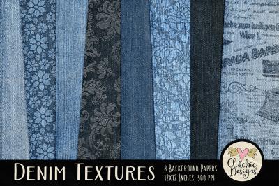 Denim Background Texture Paper Pack