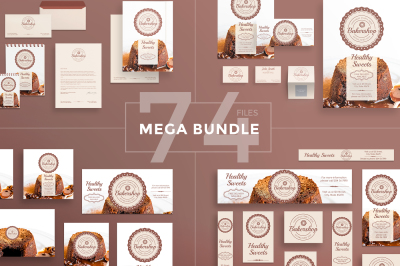 Design templates bundle | flyer, banner, branding | Healthy Sweets