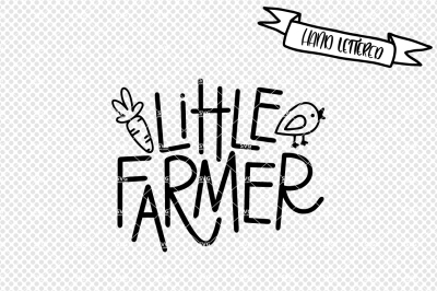 Little farmer svg cut file, farm svg