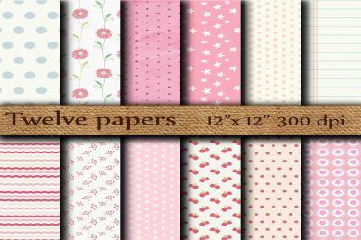 Pink Scrapbook papers