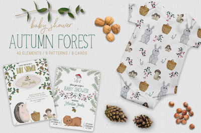Baby shower autumn forest