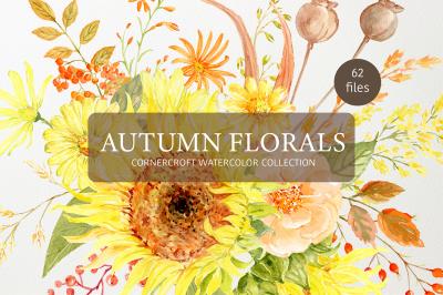 Watercolor Autumn Florals