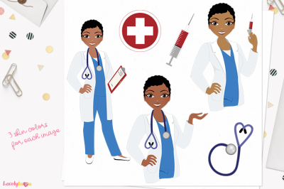 Doctor clipart, character woman (L398 Viola)